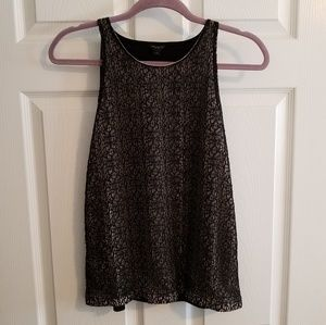 Ann Taylor lace front shell top